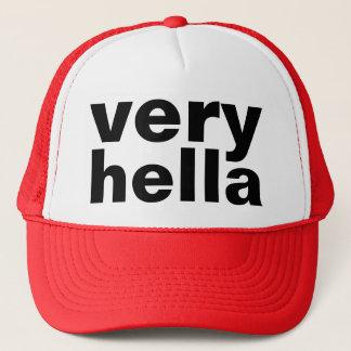 very hella trucker hat