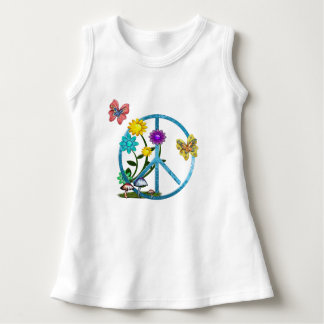 Very Hippy Day Whimsical Fantasy Art Dress