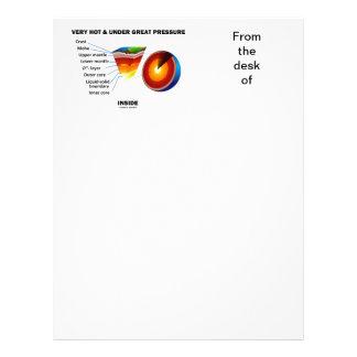Very Hot & Under Great Pressure Inside (Earth) Letterhead