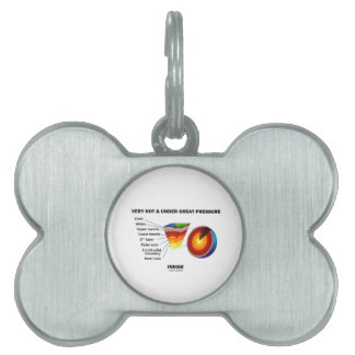 Very Hot & Under Great Pressure Inside (Earth) Pet Name Tag