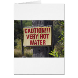 Very Hot Water Sign Card