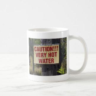 Very Hot Water Sign Coffee Mug