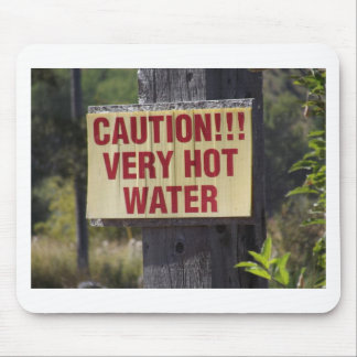 Very Hot Water Sign Mouse Pad