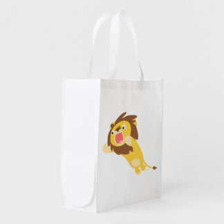 Very Hungry Cute Cartoon Lion Reusable Bag Reusable Grocery Bags