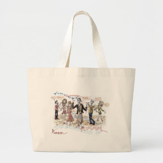Very Hungry Zombies Large Tote Bag