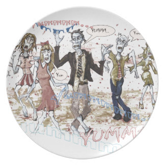 Very Hungry Zombies Plate