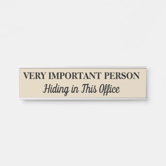 Very Important Person Hanging Door Sign Name Plate