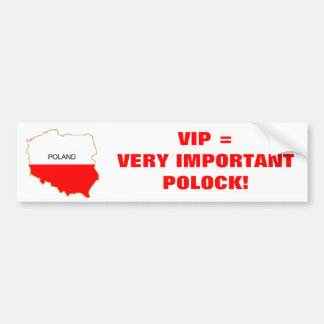 VERY IMPORTANT POLOCK BUMPER STICKER