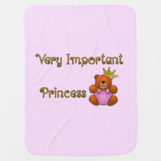 Very Important Princess baby blanket