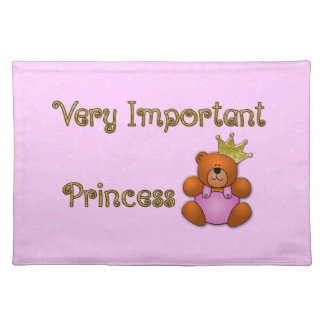 Very Important Princess - gifts for home Cloth Placemat