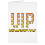 Very Important Pussy - VIP rude Offensive Naughty Greeting Card