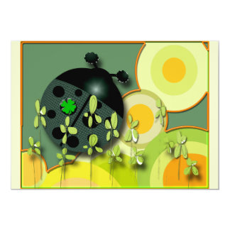 Very Irish Ladybug 5x7 Paper Invitation Card