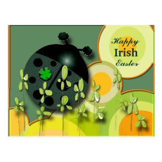 Very Irish Ladybug Postcard