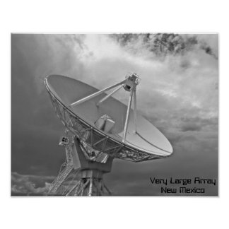 Very Large Array - B&W Photo - NM Poster
