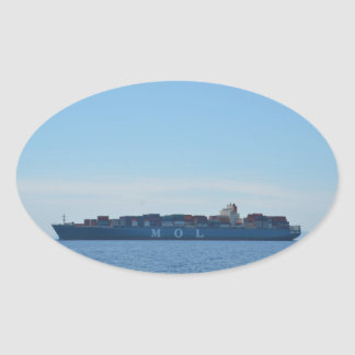 Very Large Container Ship Oval Sticker