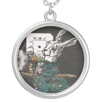 Very late White Rabbit Necklace