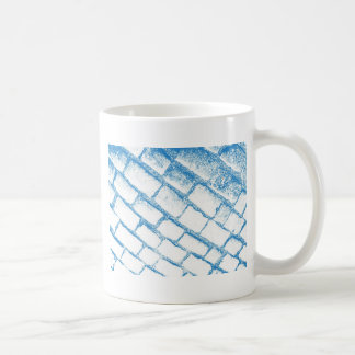Very light blue cobbles coffee mug