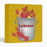 Very Lobster 3 Ring Binder