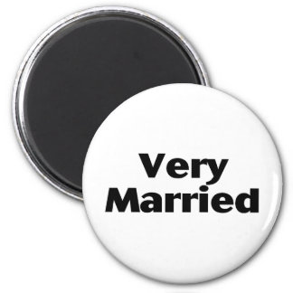 Very Married 2 Inch Round Magnet