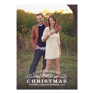 VERY MARRIED CHRISTMAS HOLIDAY PHOTO CARD