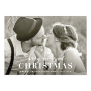 Very Married Christmas Newlywed Holiday Card Invitation