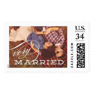 Very Married | Wedding announcement postage stamp