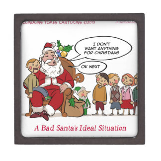 Very Mean Santa Ideal Situation Funny Premium Jewelry Boxes