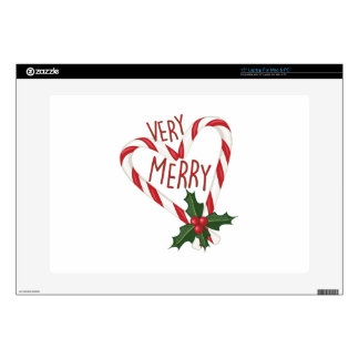 """Very Merry 15"""" Laptop Decal"""