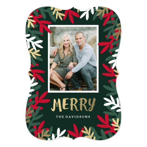 Very Merry 5x7 Paper Invitation Card