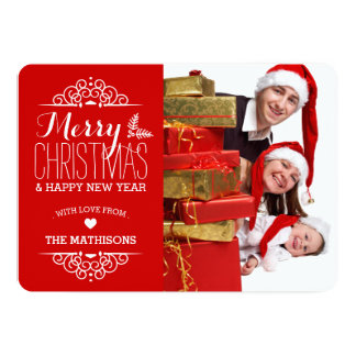 Very Merry Christmas Holiday Photo Card | Red