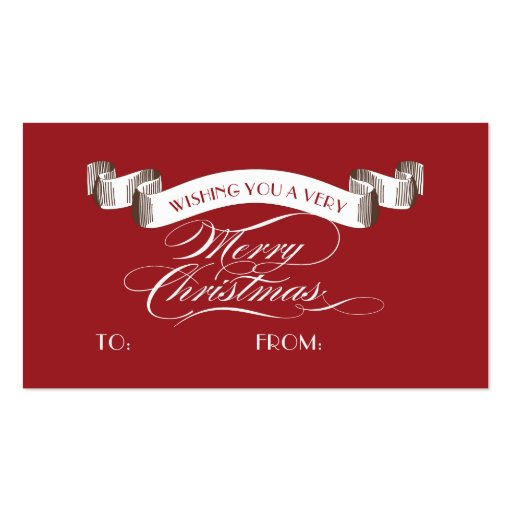 Merry christmas business card templates bizcardstudio very merry christmas label holiday gift tag business card template friedricerecipe Choice Image