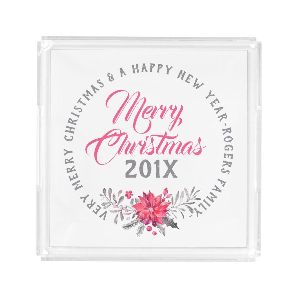 Very Merry Christmas Modern Typography