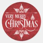Very Merry Christmas Stickers