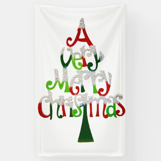 Very Merry Christmas.Very Merry Christmas Tree Banner