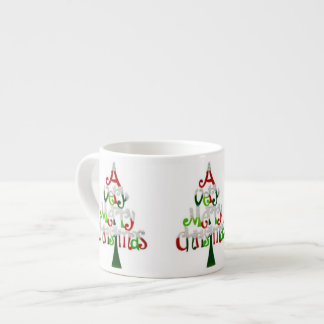 Very Merry Christmas Tree Espresso Cup