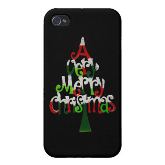 Very Merry Christmas Tree iPhone 4/4S Case