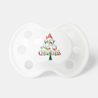 Very Merry Christmas Tree Pacifier