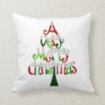 Very Merry Christmas Tree Pillows