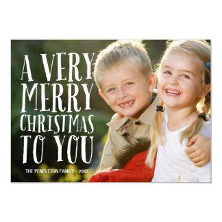 "Very Merry | Holiday Photo Card 5"" X 7"" Invitation Card"