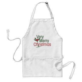 Very Merry Martini Xmas Adult Apron