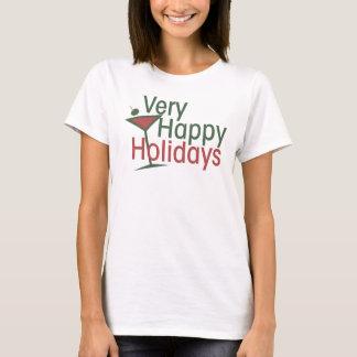 Very Merry Martini Xmas T-Shirt