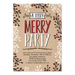 Very Merry Party Holiday Party Invitation