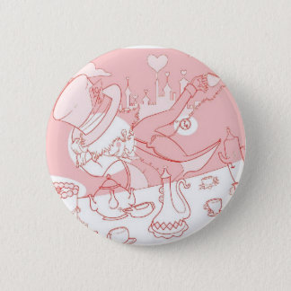 Very Merry Unbirthday Mad Hatter Pinback Button
