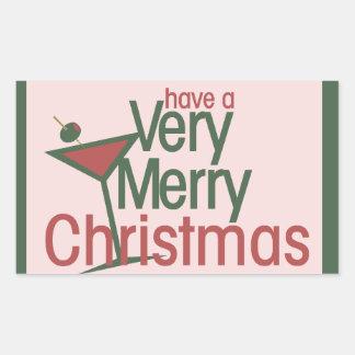 Very Merry Xmas Rectangular Sticker