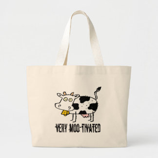 Very Moo-tivated Funny T-shirts Gifts Bag