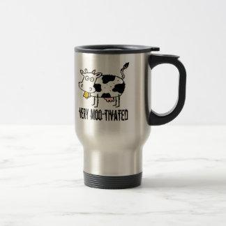 Very Moo-tivated Funny T-shirts Gifts Travel Mug