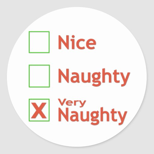 Very Naughty Stickers