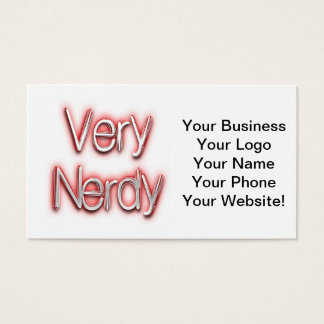 Very Nerdy Red Business Card