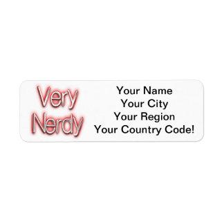 Very Nerdy Red Label
