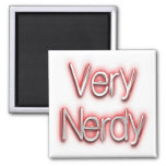 Very Nerdy Red Magnet